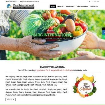 fruits & vegitables exporters website